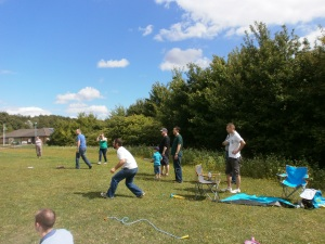 And a game of rounders for the energetic